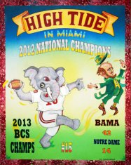 2013 BCS Champs Alabama Crimson Tide